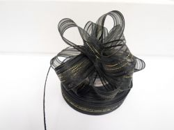 Black 2 or 25 metres 25mm Fasbo Pull Bow Ribbon Roll Craft Double Side Bows UK